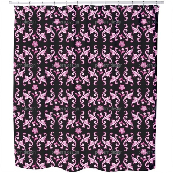 Baroquo Folk Pink Shower Curtain