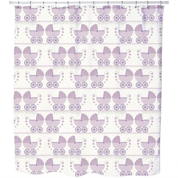 Baby Lauras Buggy Shower Curtain