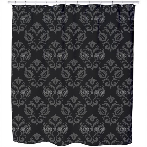 Aramis Black Shower Curtain