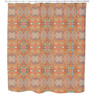 Colorful Network Shower Curtain