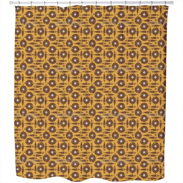 Choco Fish Shower Curtain