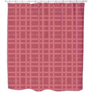 Checked Bricks Shower Curtain
