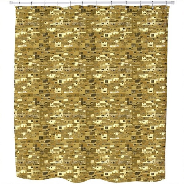 A Town in Africa Shower Curtain