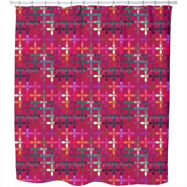 Abstract Flowerbed Shower Curtain