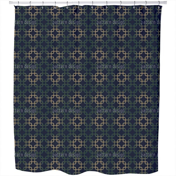Dark Connection Shower Curtain