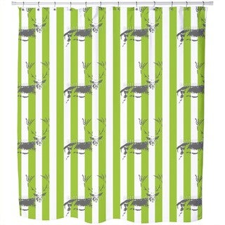 Deer in The Stripe Forest Shower Curtain