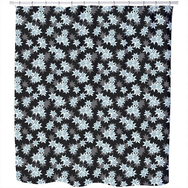 Edelweiss Black Shower Curtain