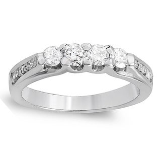 14k White Gold 1/2ct TDW Diamond Anniversary Wedding Band Stackable Ring (H-I, I1-I2)