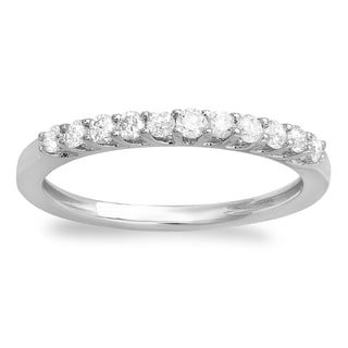 14k White Gold 2/5ct TDW Diamond Anniversary Wedding Ring (H-I, I1-I2)
