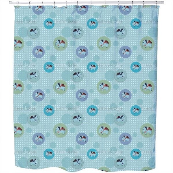 Elephant Elephant Elephant Shower Curtain