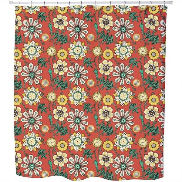 Flower People of The Seventies Shower Curtain