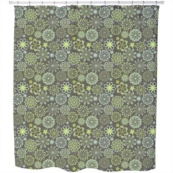 Flowers of Natural Science Shower Curtain