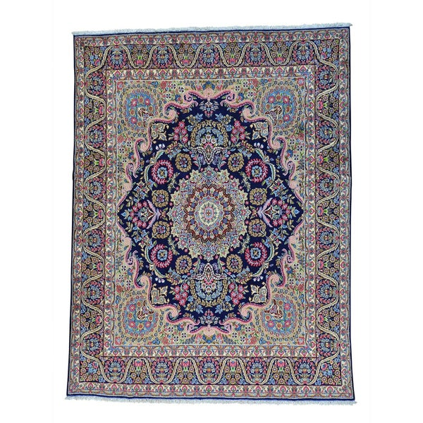 Persian Kerman Full Pile Hand-knotted Pure Wool Rug (9'10 x 12'10)