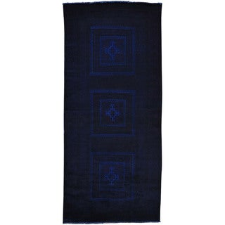 Hand-knotted Overdyed Persian Baluch Wide Runner Rug (3'6 x 8')