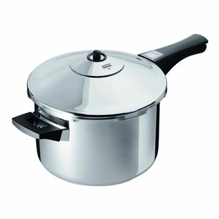 Kuhn Rikon 7-Quart Stainless-Steel Pressure Cooker Saucepan
