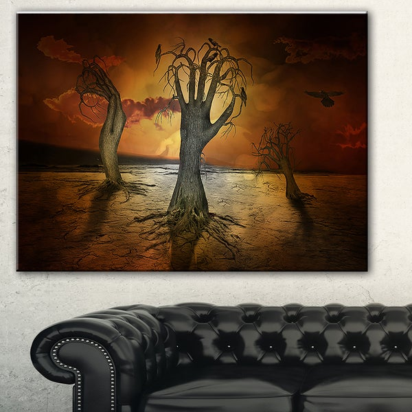 Designart 'Storage Trees' Abstract Digital Art Canvas Print