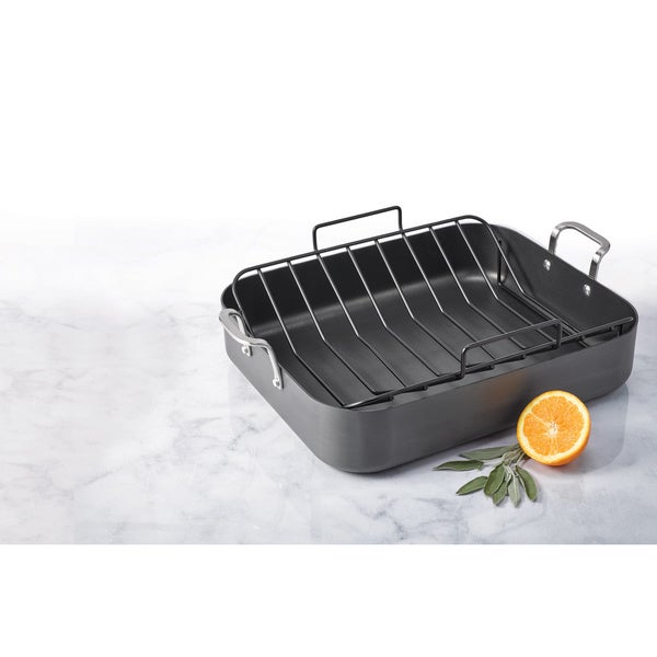 Oneida Hard Anodized Roaster with Non-Stick U Rack