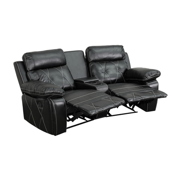 Offex Real Comfort Series 2-seat Theater Seating Unit with Curved Cup Holders 18020233
