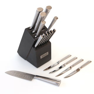 Oneida 16 piece Stainless Steel Cutlery Block Set plus 10 Steak Knives