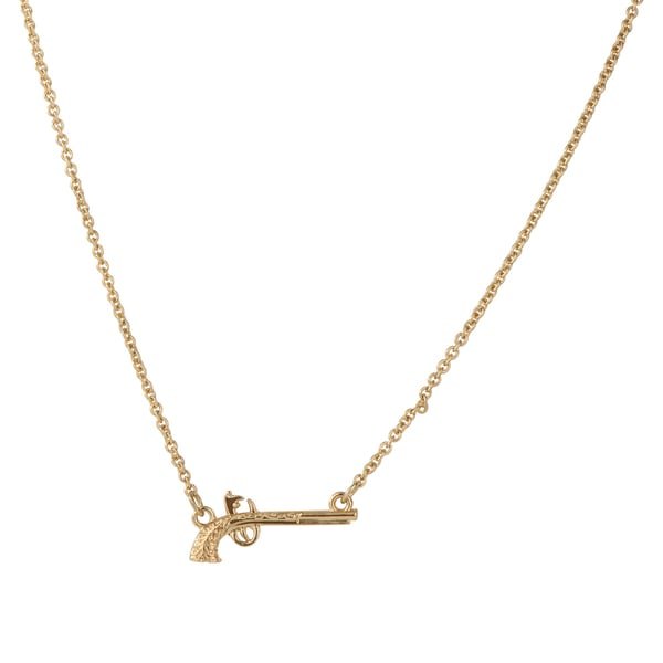 Ally Gold Color Gun Necklace