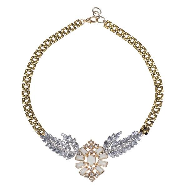 Brass Baroque Style Statement Necklace