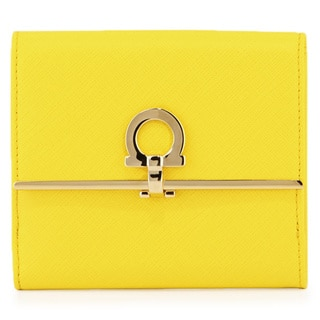 Salvatore Ferragamo French Icona Yellow Wallet