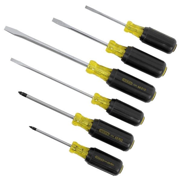 Stanley Hand Tools 66-565 6 Piece Vinyl Grip Slotted & Phillips Screwdriver Set
