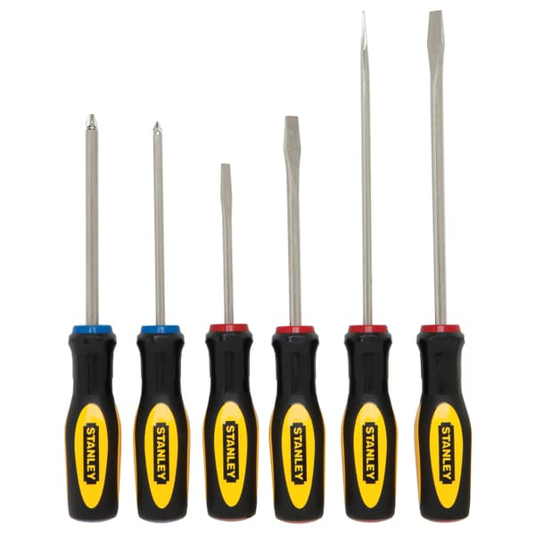 Stanley Hand Tools 60-060 6 Piece Set Slotted & Phillip Screwdrivers