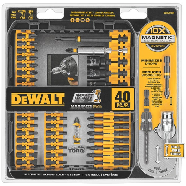 Dewalt DWA2T40IR 40 Piece Impact Ready Screwdriver Set