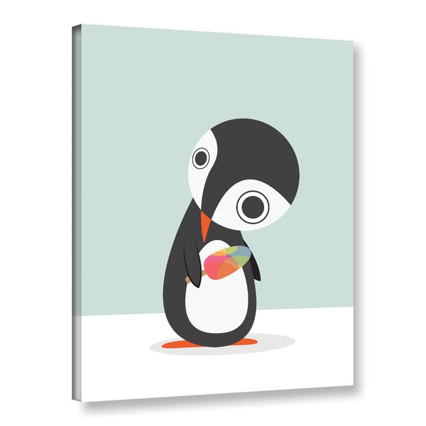 Volkan Dalyan's 'Pingu Loves Ice Cream' Gallery Wrapped Canvas