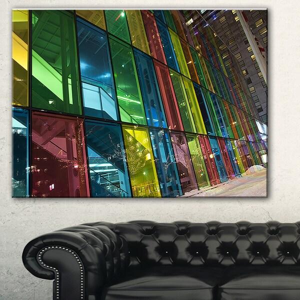 Designart 'Palais des Congress de Montreal' Modern Canvas Art Print