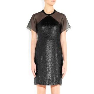 Theory Derell Silk Organza Cocktail Dress