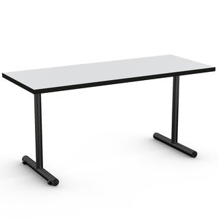 MyOfficeTable 24 x 60-inch EZRoll Light Grey Training Table with T-legs