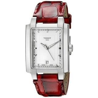 Tissot T-trend TXL Women's Red Leather Quartz Watch