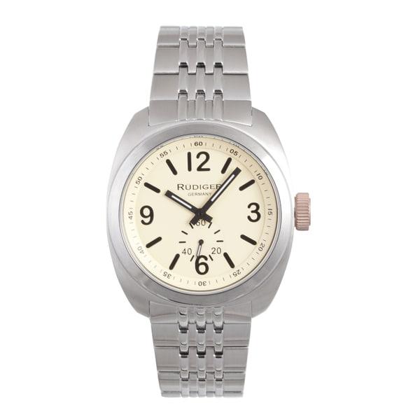 Rudiger Men's Siegen Stainless Steel Silver Watch
