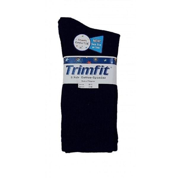 Trimfit Boys' Cotton Crew Socks (Pack of 3)