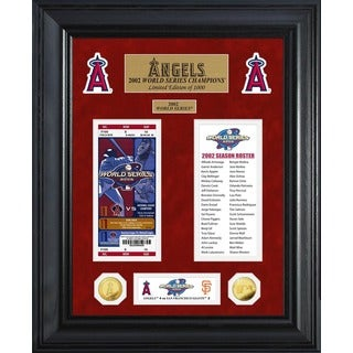 Los Angeles Angels World Series Deluxe Gold Coin & Ticket Collection