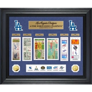 Los Angeles Dodgers World Series Deluxe Gold Coin & Ticket Collection