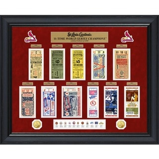 St. Louis Cardinals World Series Deluxe Gold Coin & Ticket Collection