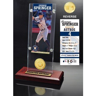 George Springer Ticket & Bronze Coin Acrylic Desk Top