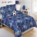 Go Team 5-piece Comforter Set with Decorative Soccer Ball Pillow
