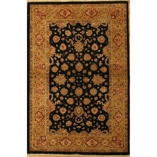 Hand-knotted Agra Design Area Rug (3' 11 x 5' 10)