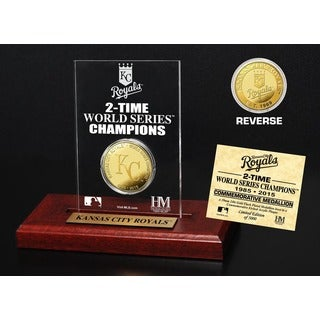 Kansas City Royals World Series Champions Gold Coin Etched Acrylic