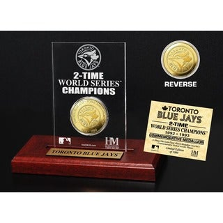 Toronto Blue Jays World Series Champions Gold Coin Etched Acrylic