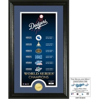 "Los Angeles Dodgers ""Legacy"" Supreme Bronze Coin Photo Mint"