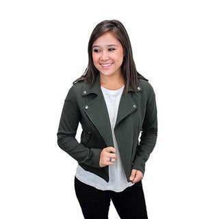 Relished Olive Green Moto Jacket