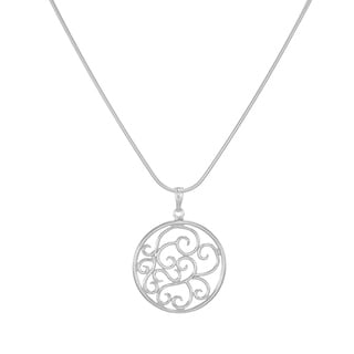 Jewelry by Dawn Round Filigree Scroll Sterling Silver Snake Chain Necklace