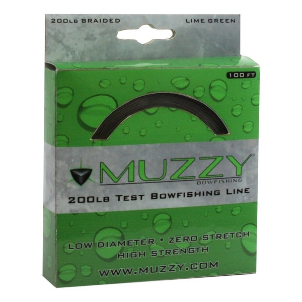 Muzzy 200# Braided Bowfishing Line 100 ft. Spool Lime Green