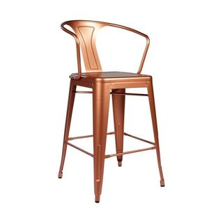 Tolix-style Copper Arm Counter Stool