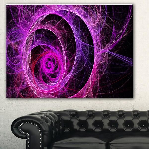 Exotic Pink Flower' Floral Digital Art Canvas Print